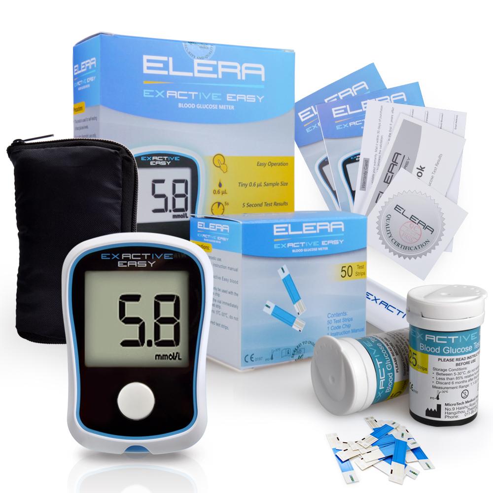 Monitor de prueba de glucosa con tiras y lancetas