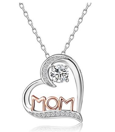 Collar con Corazón Colgante para las madres